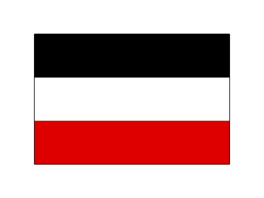 Fahne schwarz-weiß-rot 250 x 150