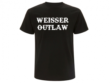 Weisser Outlaw Front T-Hemd