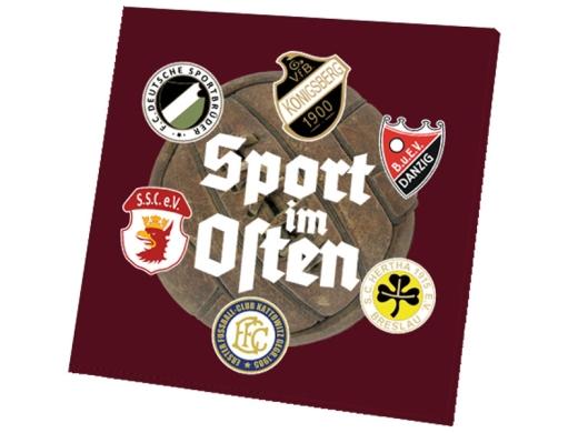 Sport im Osten Leinwand weinrot