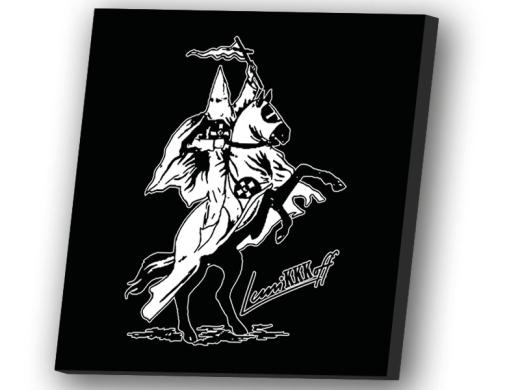 Reiter LuniKKKoff Leinwand 50cm x 50cm schwarz
