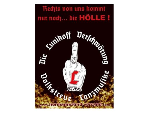 Lunikoff Rechts von uns Poster Din A3