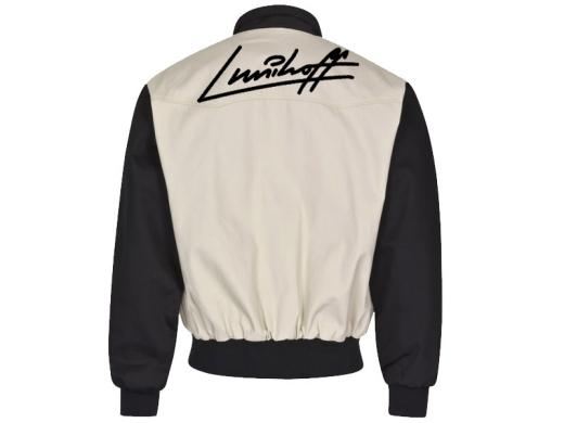 Lunikoff Unterschrift Harrington Jacke altweiß-schwarz