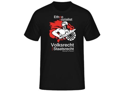 Ethno-Sozialist Hermannsland T-Hemd