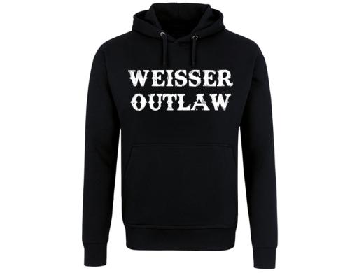 VORVERKAUF !!! Weisser Outlaw Front Kapuzenpullover