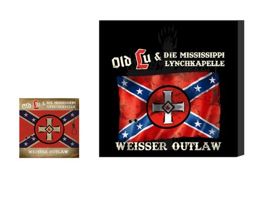 VORVERKAUF !!! Old Lu und die Mississippi Lynchkapelle Weisser Outlaw Leinwand schwarz + CD