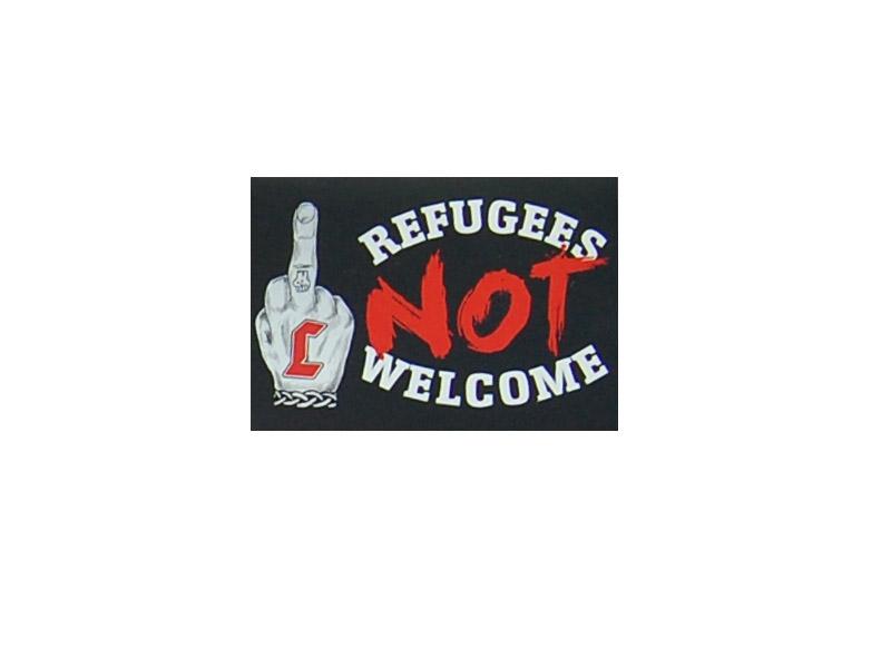 Refugees Not Welcome Aufkleber Hermannsland Versand