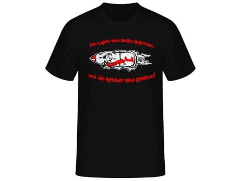 Kugeln + Messer Die Lunikoff Verschwörung T-Hemd
