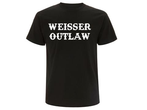 VORVERKAUF !!! Weisser Outlaw Front T-Hemd