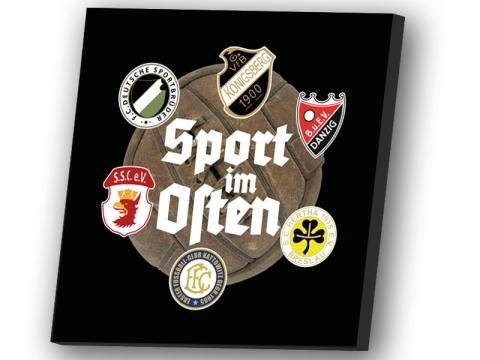 Sport im Osten Leinwand schwarz