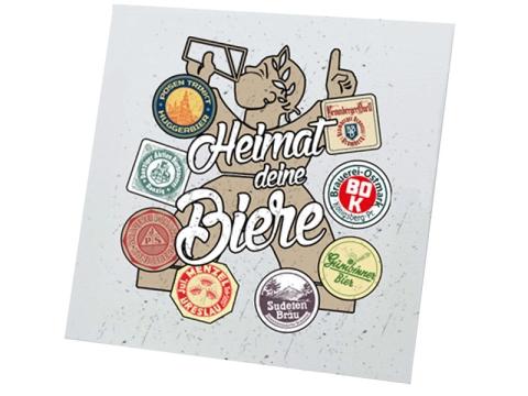 Heimat deine Biere Leinwand weiß