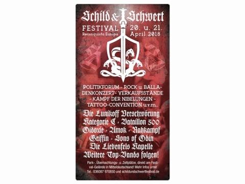 Schild und Schwert Festival Eintrittskarte Sonnabend
