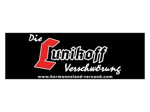 Die Lunikoff Verschwörung Logo Banner 3x1 Meter