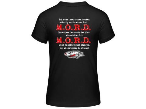 Die Lunikoff Verschwörung M.O.R.D. Frauen T-Hemd