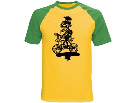 Schwarzfahrer T-Hemd zweifarbig