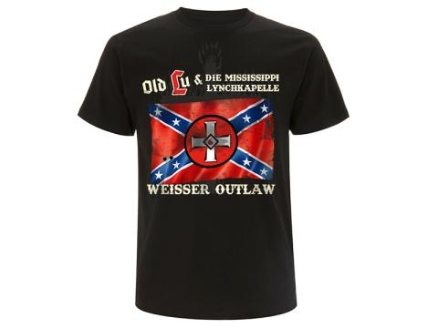 Old Lu und die Mississippi Lynchkapelle Weisser Outlaw T-Hemd schwarz