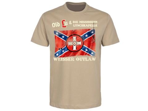 Old Lu und die Mississippi Lynchkapelle Weisser Outlaw T-Hemd beige