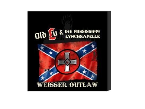 Old Lu und die Mississippi Lynchkapelle Weisser Outlaw Leinwand schwarz