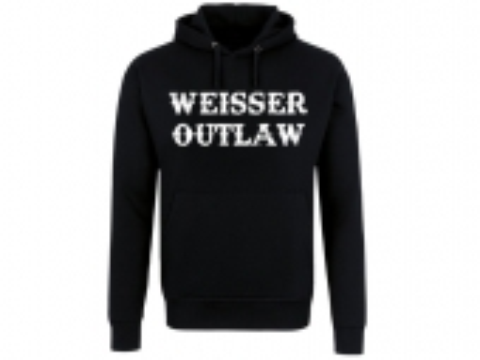 Weisser Outlaw Front Kapuzenpullover